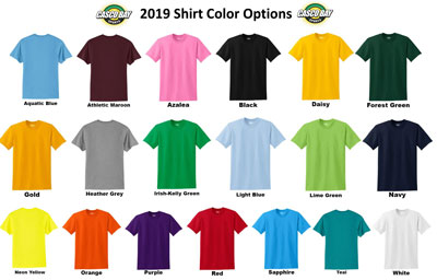 Team Shirt Color Options small
